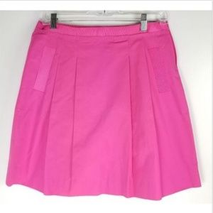 J. Crew Nicky Skirt 4 Pink Cotton Taffeta Pleated